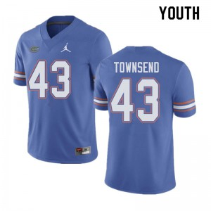Jordan Brand Youth #43 Tommy Townsend Florida Gators College Football Jerseys Blue 520951-634