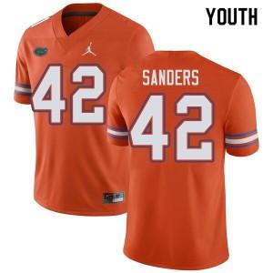 Jordan Brand Youth #42 Umstead Sanders Florida Gators College Football Jerseys Orange 787511-450