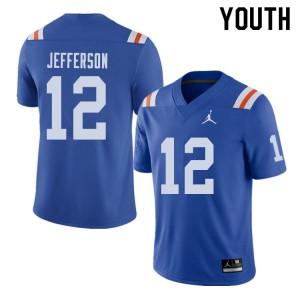 Jordan Brand Youth #12 Van Jefferson Florida Gators Throwback Alternate College Football Jerseys 785739-687