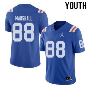 Jordan Brand Youth #88 Wilber Marshall Florida Gators Throwback Alternate College Football Jerseys 170423-784