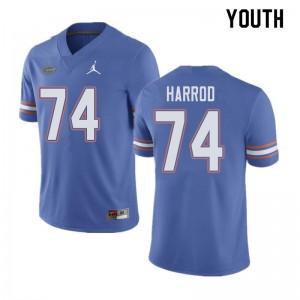 Jordan Brand Youth #74 Will Harrod Florida Gators College Football Jerseys Blue 304692-667