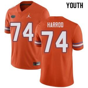 Jordan Brand Youth #74 Will Harrod Florida Gators College Football Jerseys Orange 113091-235