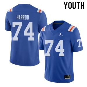 Jordan Brand Youth #74 Will Harrod Florida Gators Throwback Alternate College Football Jerseys 425614-754
