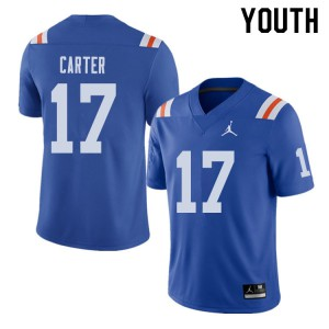 Jordan Brand Youth #17 Zachary Carter Florida Gators Throwback Alternate College Football Jerseys 248459-883
