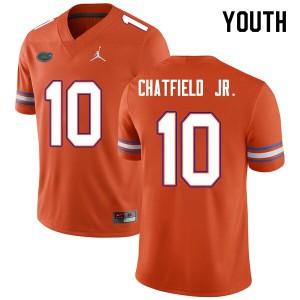 Youth #10 Andrew Chatfield Jr. Florida Gators College Football Jerseys Orange 543738-274