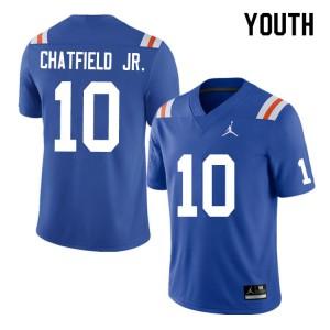 Youth #10 Andrew Chatfield Jr. Florida Gators College Football Jerseys Throwback 453041-567