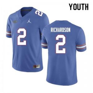 Youth #2 Anthony Richardson Florida Gators College Football Jerseys Blue 321467-237
