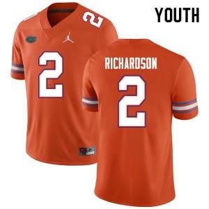 Youth #2 Anthony Richardson Florida Gators College Football Jerseys Orange 728283-150