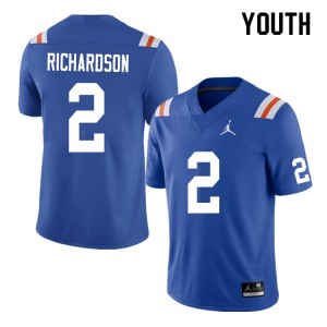 Youth #2 Anthony Richardson Florida Gators College Football Jerseys Throwback 769546-168