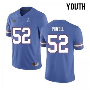 Youth #52 Antwuan Powell Florida Gators College Football Jerseys Blue 662674-766