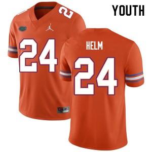 Youth #24 Avery Helm Florida Gators College Football Jerseys Orange 873233-328