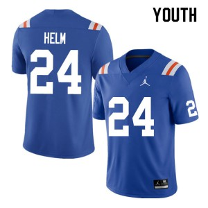 Youth #24 Avery Helm Florida Gators College Football Jerseys Throwback 747555-599