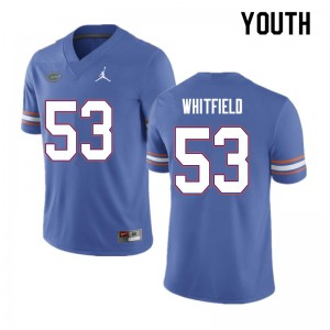 Youth #53 Chase Whitfield Florida Gators College Football Jerseys Blue 164742-568