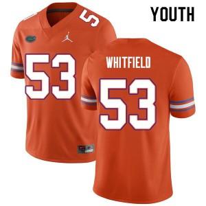 Youth #53 Chase Whitfield Florida Gators College Football Jerseys Orange 261400-527
