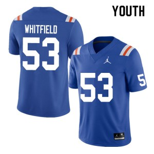 Youth #53 Chase Whitfield Florida Gators College Football Jerseys Throwback 132313-733