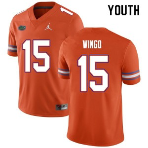Youth #15 Derek Wingo Florida Gators College Football Jerseys Orange 316261-412