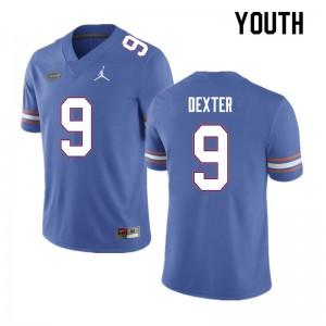 Youth #9 Gervon Dexter Florida Gators College Football Jerseys Blue 439858-443