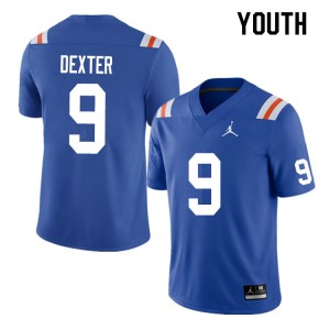 Youth #9 Gervon Dexter Florida Gators College Football Jerseys Throwback 208528-720