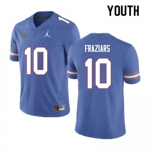Youth #10 Ja'Quavion Fraziars Florida Gators College Football Jerseys Blue 847516-287