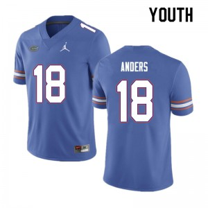 Youth #18 Jack Anders Florida Gators College Football Jerseys Blue 338972-747