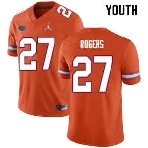 Youth #27 Jahari Rogers Florida Gators College Football Jerseys Orange 667431-177