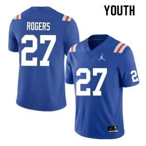 Youth #27 Jahari Rogers Florida Gators College Football Jerseys Throwback 828283-674