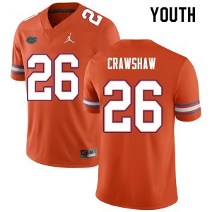 Youth #26 Jeremy Crawshaw Florida Gators College Football Jerseys Orange 485940-515