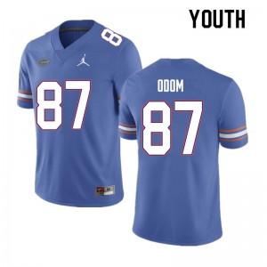 Youth #87 Jonathan Odom Florida Gators College Football Jerseys Blue 119512-563