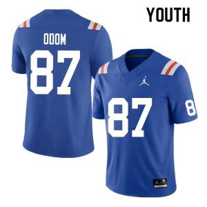 Youth #87 Jonathan Odom Florida Gators College Football Jerseys Throwback 780957-748