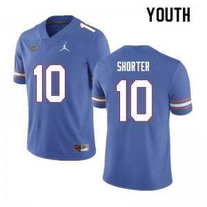 Youth #10 Justin Shorter Florida Gators College Football Jerseys Blue 143515-768