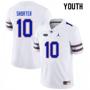 Youth #10 Justin Shorter Florida Gators College Football Jerseys White 135299-519