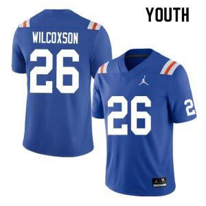 Youth #26 Kamar Wilcoxson Florida Gators College Football Jerseys Throwback 338826-412