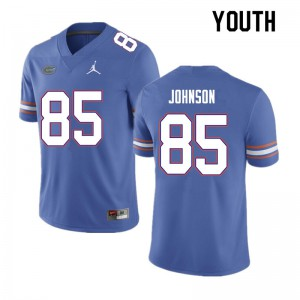 Youth #85 Kevin Johnson Florida Gators College Football Jerseys Blue 986610-677