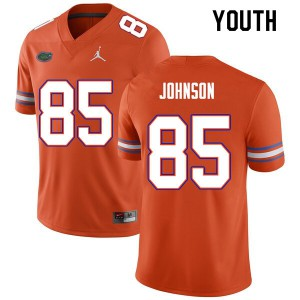 Youth #85 Kevin Johnson Florida Gators College Football Jerseys Orange 272071-790