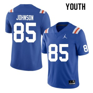 Youth #85 Kevin Johnson Florida Gators College Football Jerseys Throwback 623556-378