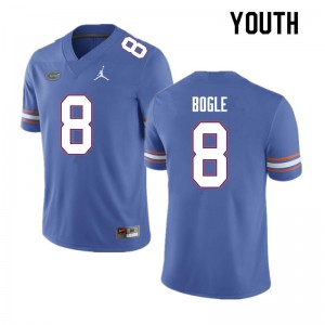 Youth #8 Khris Bogle Florida Gators College Football Jerseys Blue 716882-883