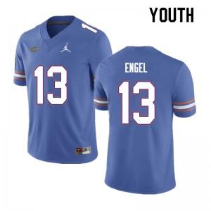 Youth #13 Kyle Engel Florida Gators College Football Jerseys Blue 683057-498