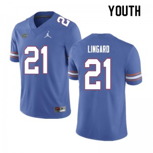 Youth #21 Lorenzo Lingard Florida Gators College Football Jerseys Blue 207192-316