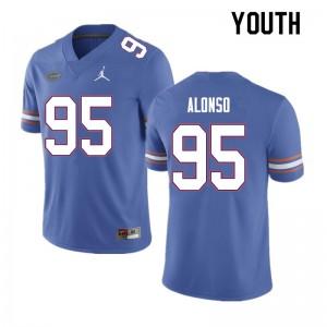 Youth #95 Lucas Alonso Florida Gators College Football Jerseys Blue 634594-610