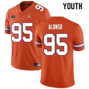Youth #95 Lucas Alonso Florida Gators College Football Jerseys Orange 134556-412