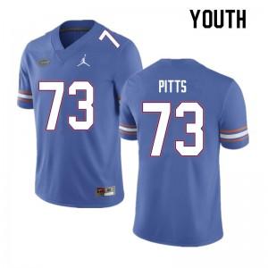 Youth #73 Mark Pitts Florida Gators College Football Jerseys Blue 752240-863