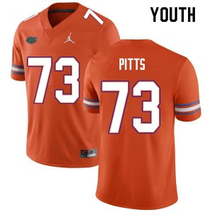 Youth #73 Mark Pitts Florida Gators College Football Jerseys Orange 893405-149