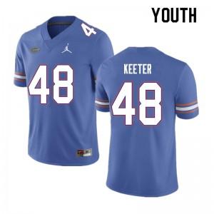 Youth #48 Noah Keeter Florida Gators College Football Jerseys Blue 808065-420