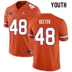 Youth #48 Noah Keeter Florida Gators College Football Jerseys Orange 869827-861