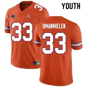 Youth #33 Princely Umanmielen Florida Gators College Football Jerseys Orange 551042-614