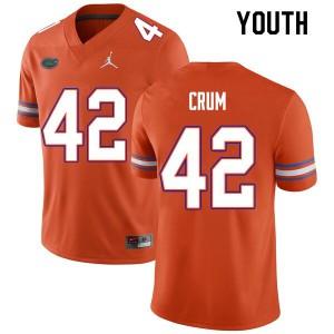 Youth #42 Quaylin Crum Florida Gators College Football Jerseys Orange 457428-575