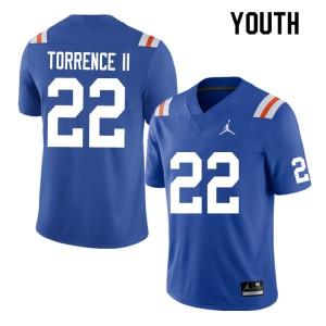 Youth #22 Rashad Torrence II Florida Gators College Football Jerseys Throwback 952621-528