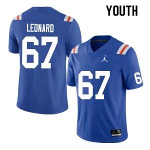 Youth #67 Richie Leonard Florida Gators College Football Jerseys Throwback 375677-702