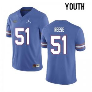 Youth #51 Stewart Reese Florida Gators College Football Jerseys Blue 203482-497