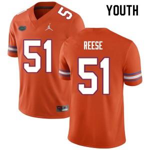 Youth #51 Stewart Reese Florida Gators College Football Jerseys Orange 712711-549